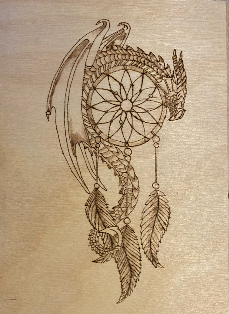 Handmade Wood Burnt Art Sheet (Pyrography).