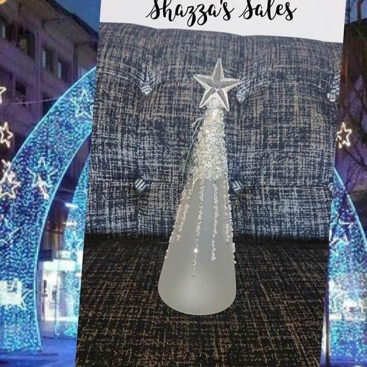 Glass Art LED Icicle Tree