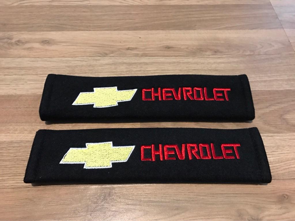 2X Car Seat Belt Pads Chevrolet Tacuma Trax Aveo Cruze Orlando Spark Sport