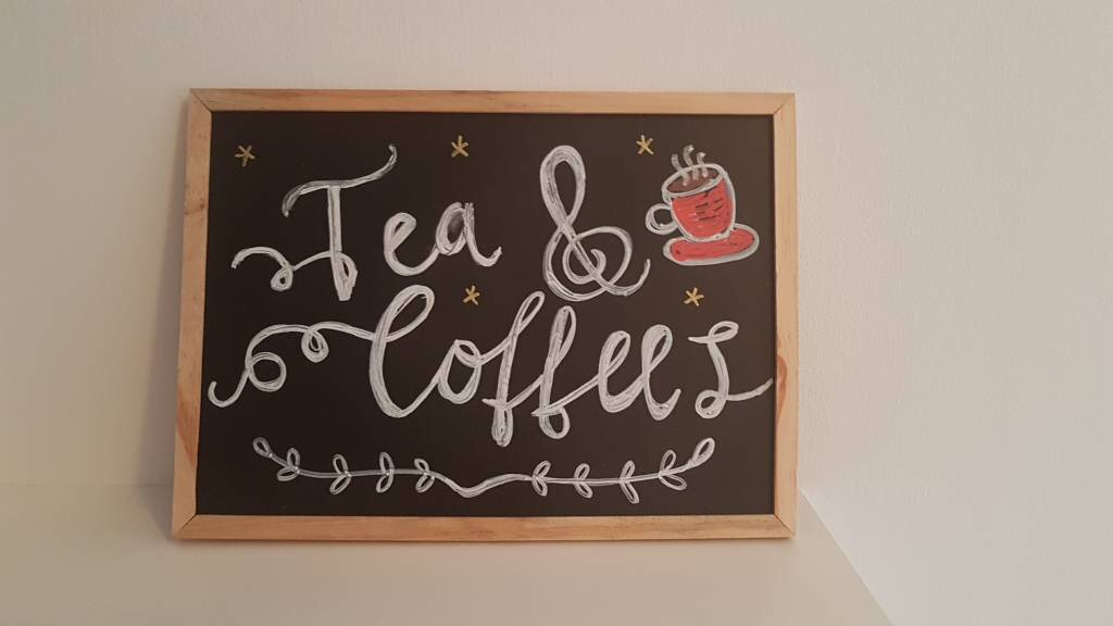 Small tea and coffee sign