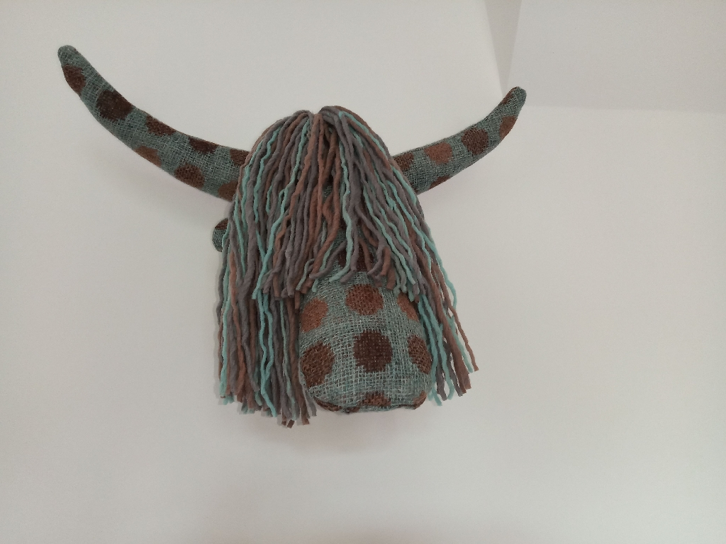 Highland Cow Head For Wall Mounting
