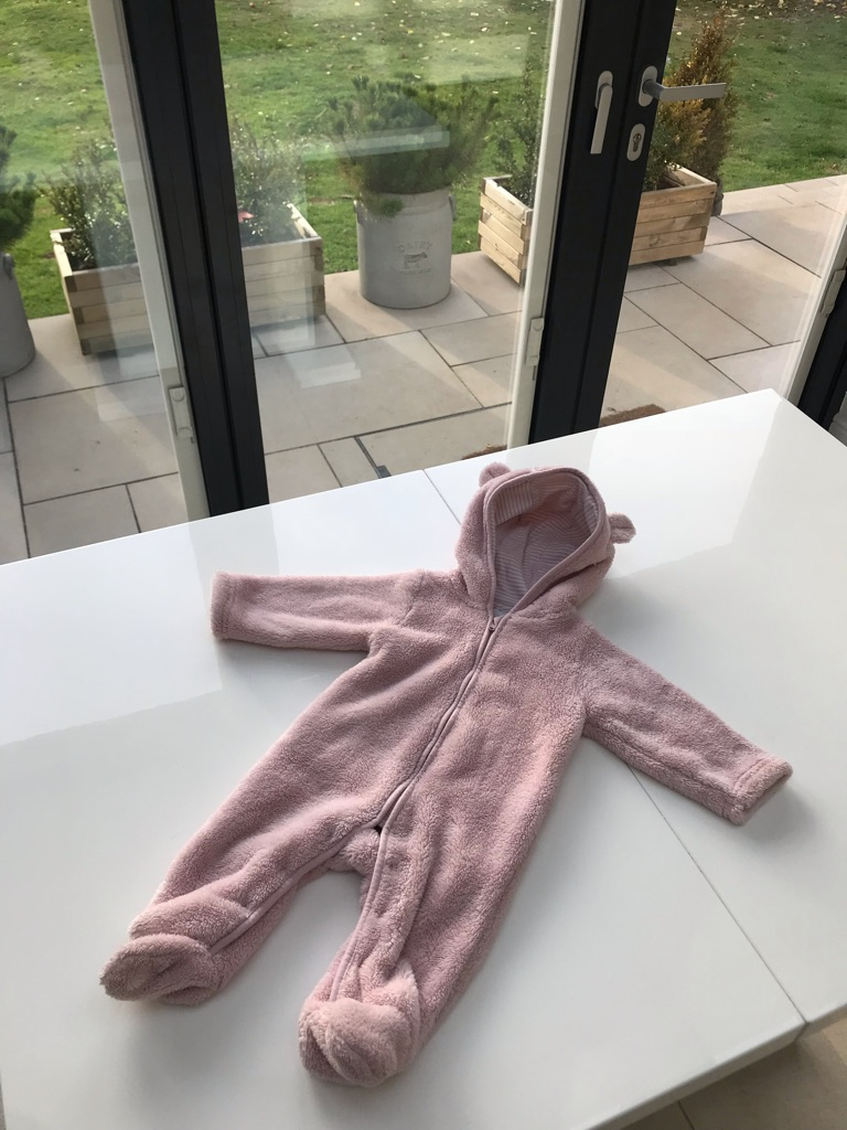 White Company Snow Suit - Pink 3-6 months