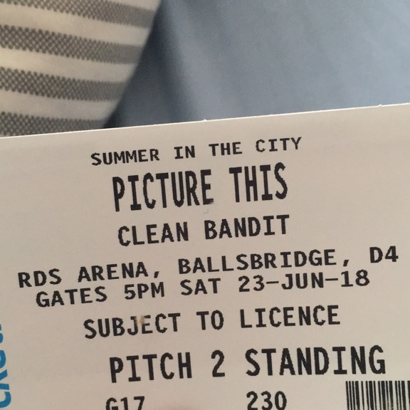Picture this and clean bandit standing ticket
