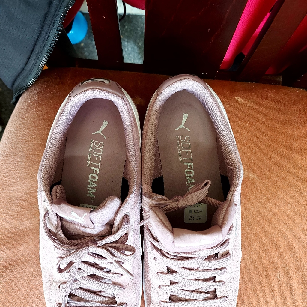 Dusty pink ladies  trainers