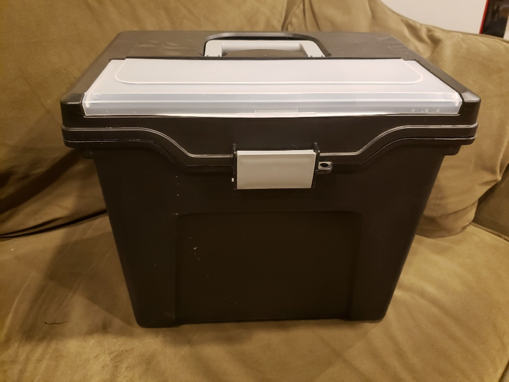 Letter Size File Box