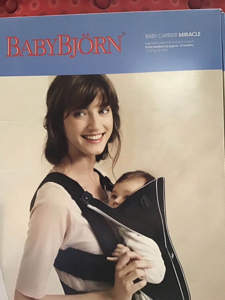 Baby Bjorn silver black carrier