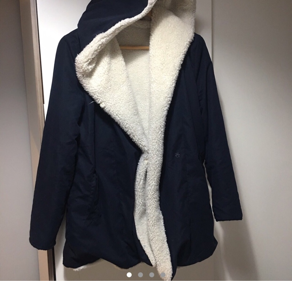 Coat with soft teddy lining - size 8