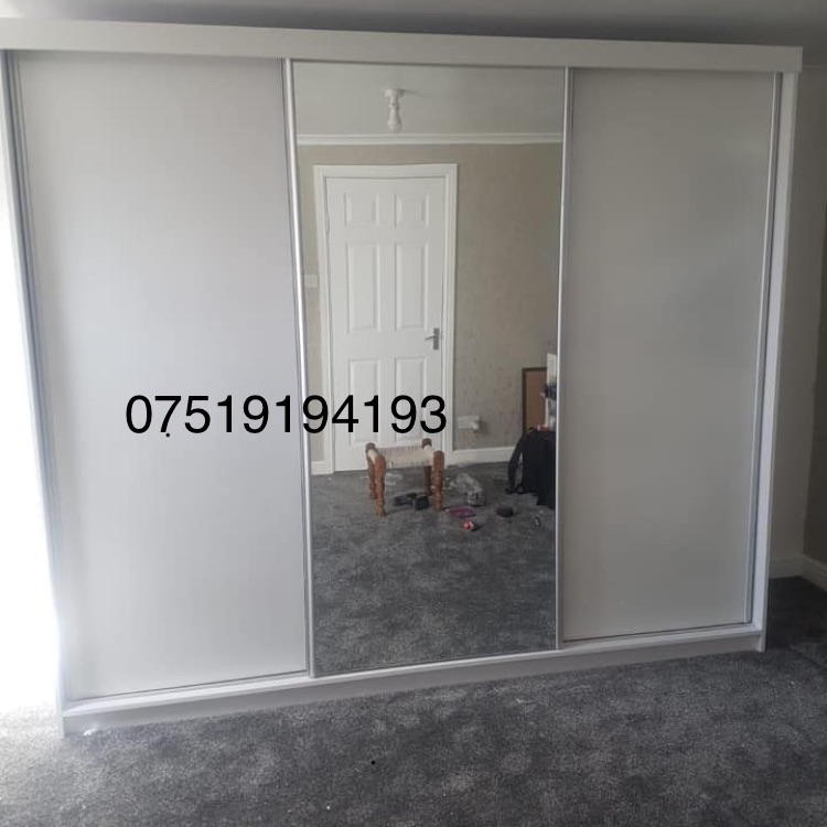 2&3 doors sliding wardrobe for sale different sizes and colours available