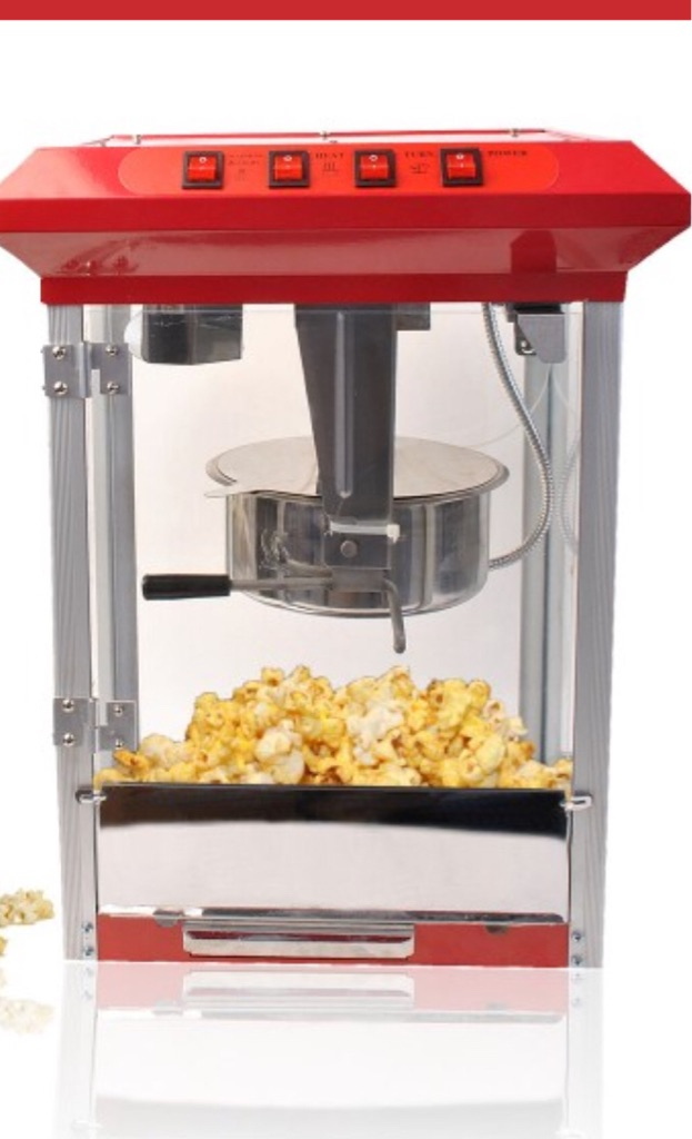 Assisted candy floss and popcorn machine for hire