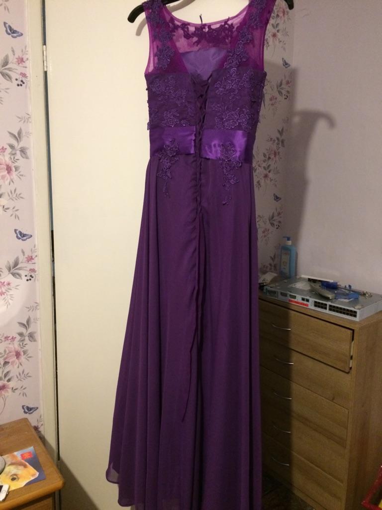 Cadbury purple bridesmaid dress