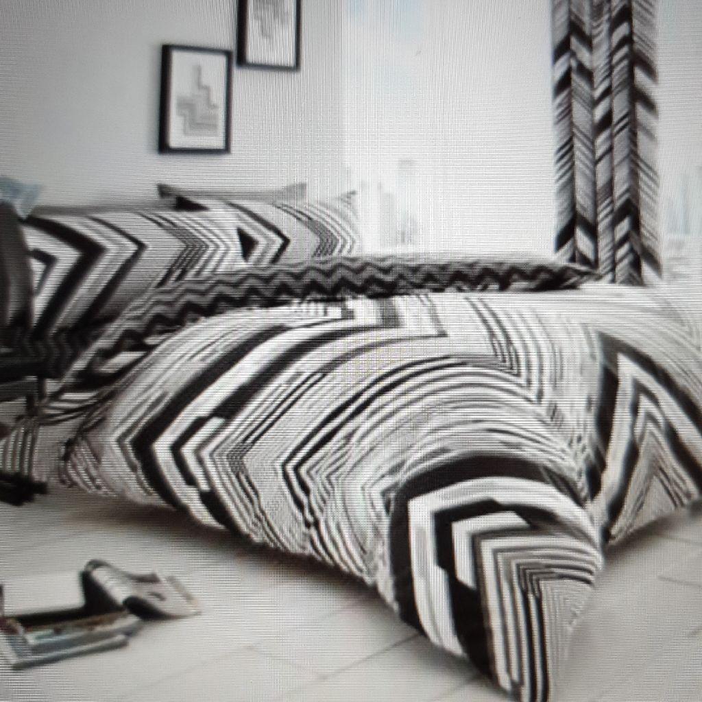 Austin chevron striped duvet set