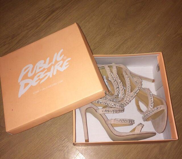 Public desire wrap open toe heels