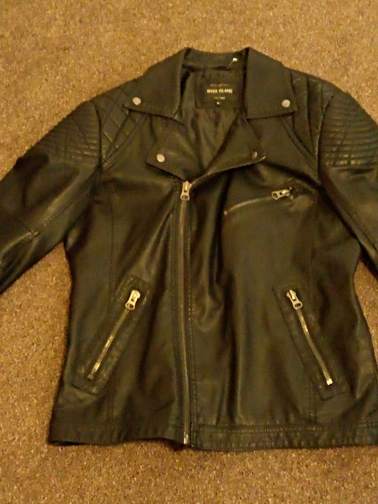 Mens raver island leather jacket