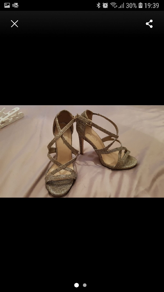 Gold strappy Heels Size 5
