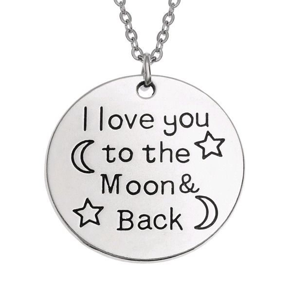 Wish jewellery celestial design love you to the moon and back necklace