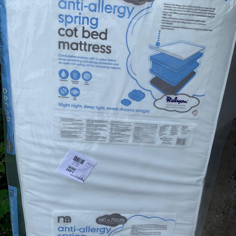 Brand new cot bed mattress