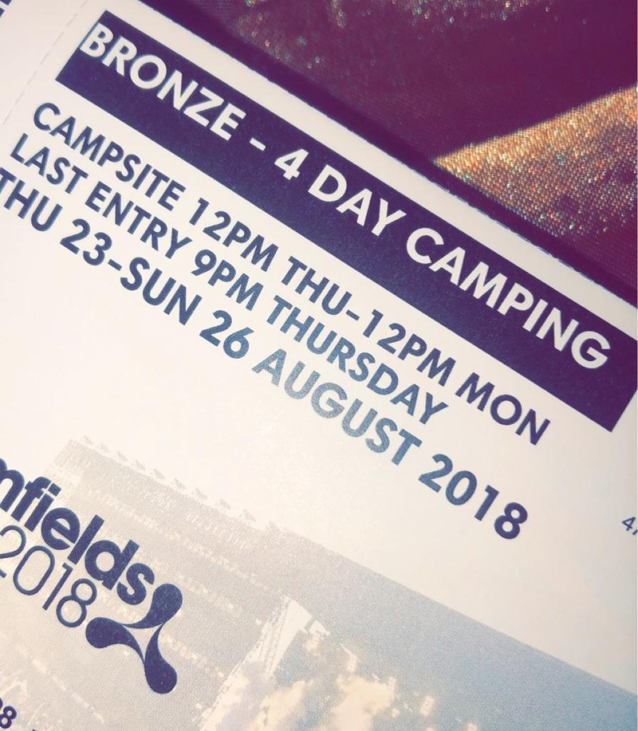 Bronze 4 day camping Creamfields ticket