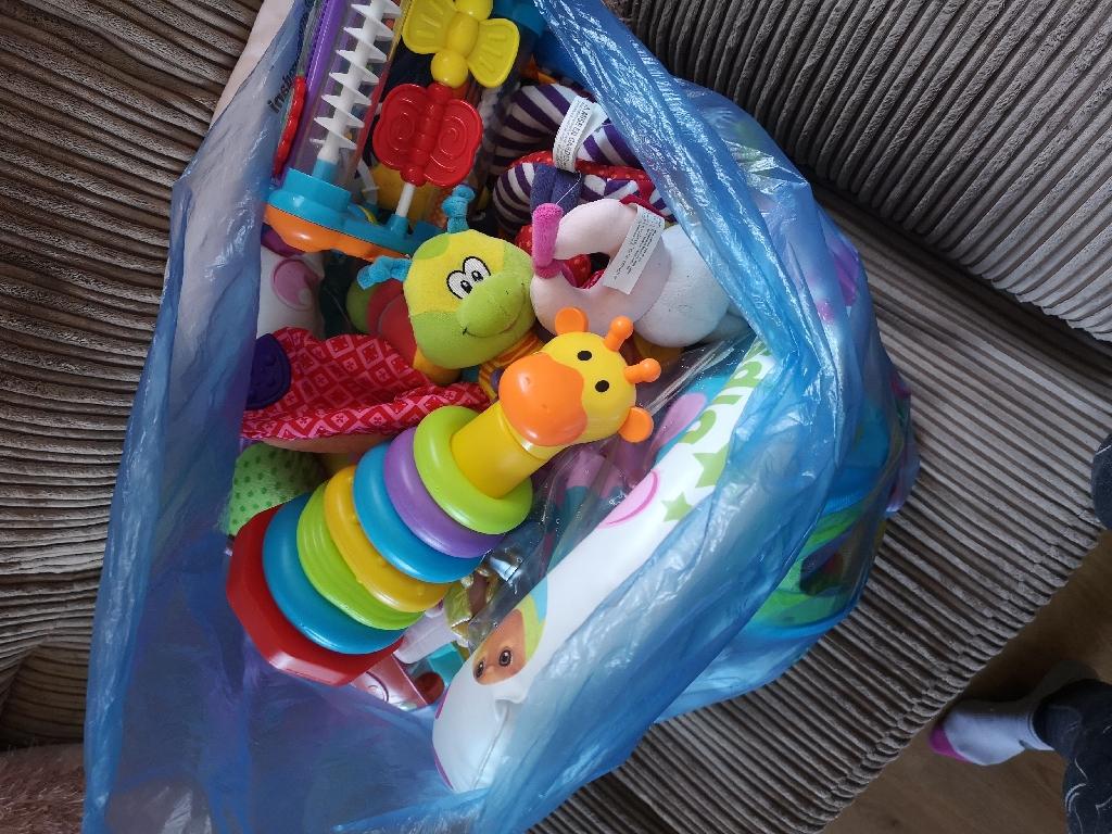 Large bag of baby/toddler toys