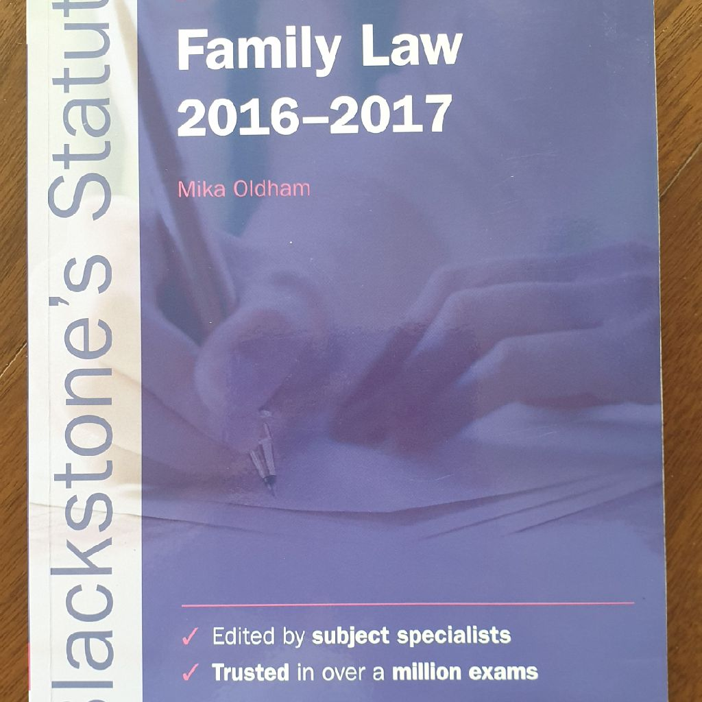Family Law statute book.
