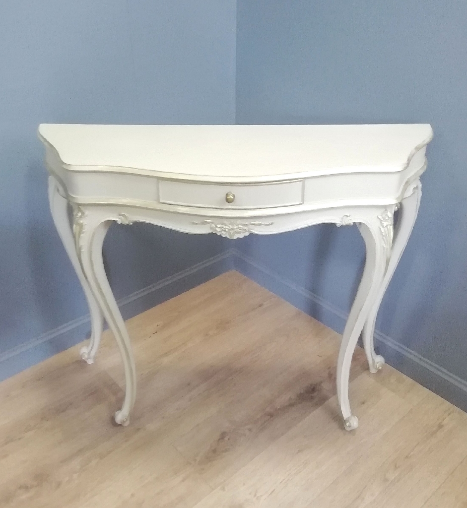Vintage Anne Sloan painted hall table