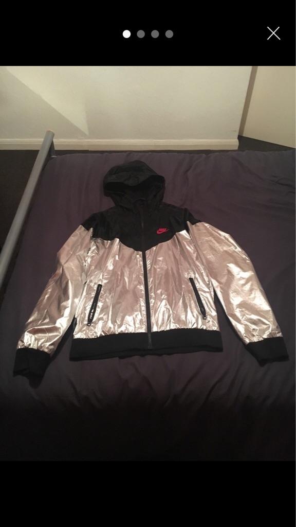 Nike metallic (silver) windrunner jacket