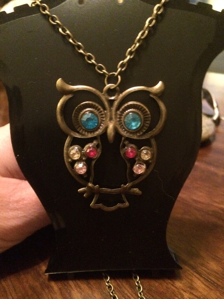 New long owl necklace