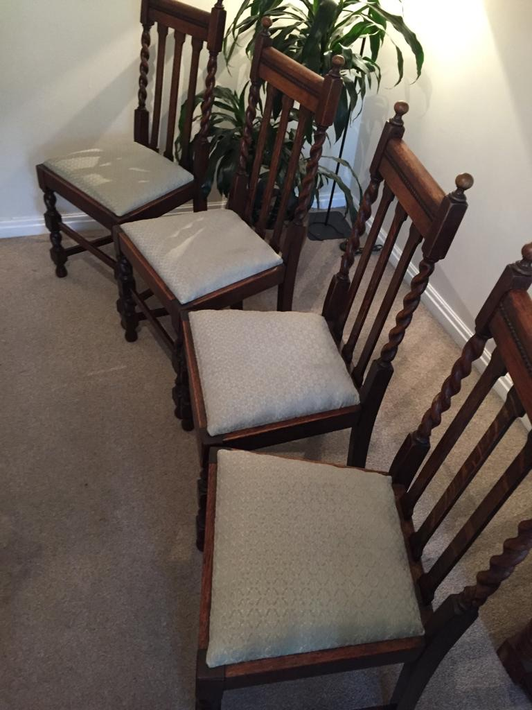Four upholstery chairs