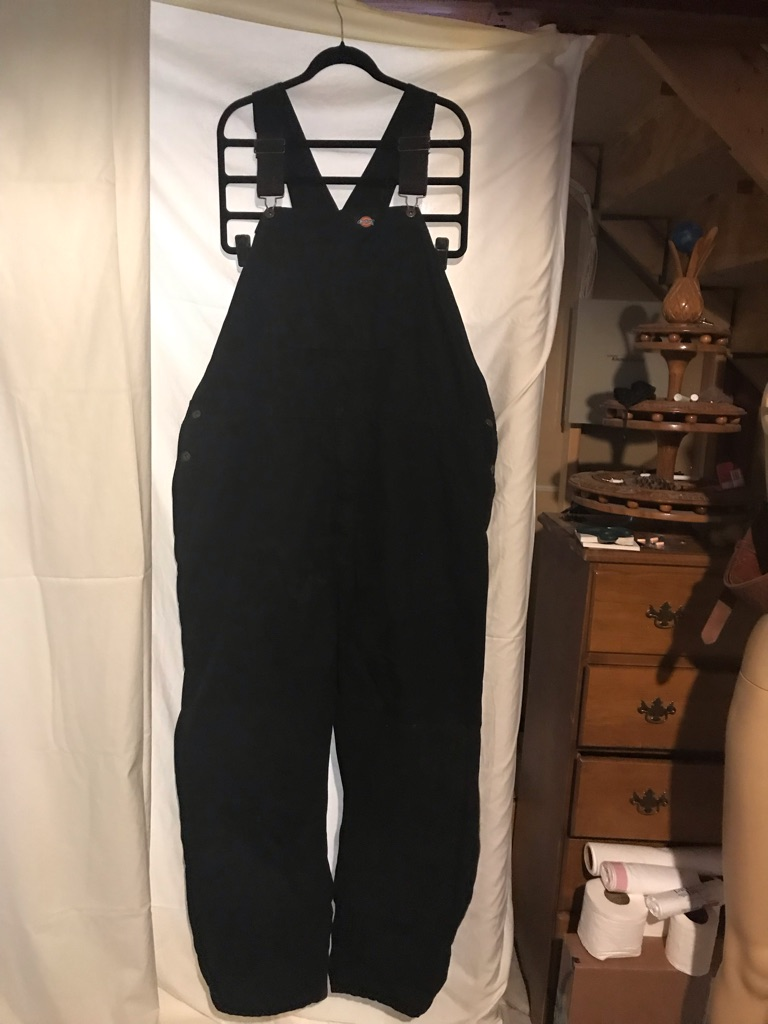 Dickies Black Canvas Insulated Overalls