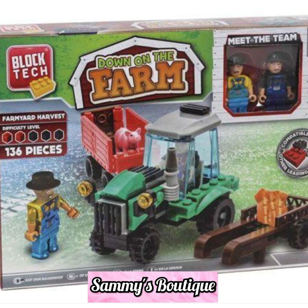 136 Piece Block Tech Farmyard Harvest Brick Set