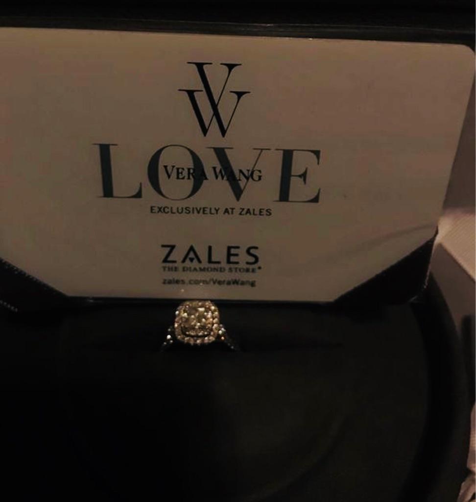 Vera Wang Princess Cut Engagement Ring