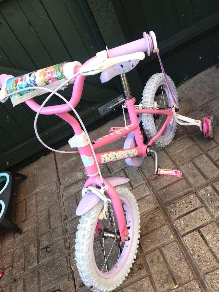 Princess girls bike