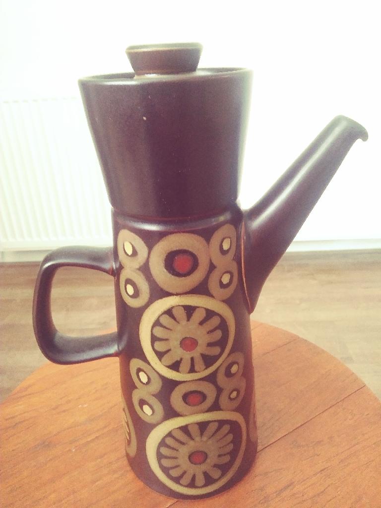 A Vintage Denby Arabesque Coffee Pot