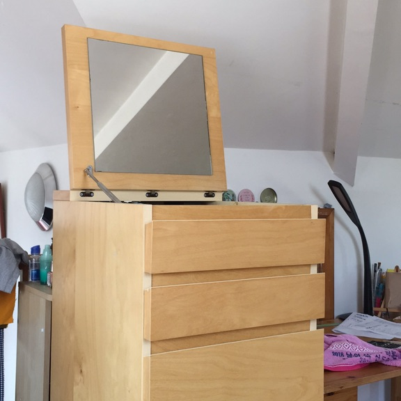 Ikea storage unit (drawers) with collapsable mirror