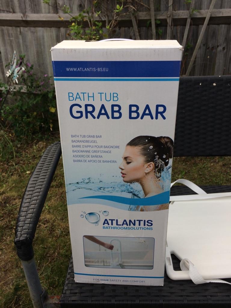 Bath tub grab safety bar,
