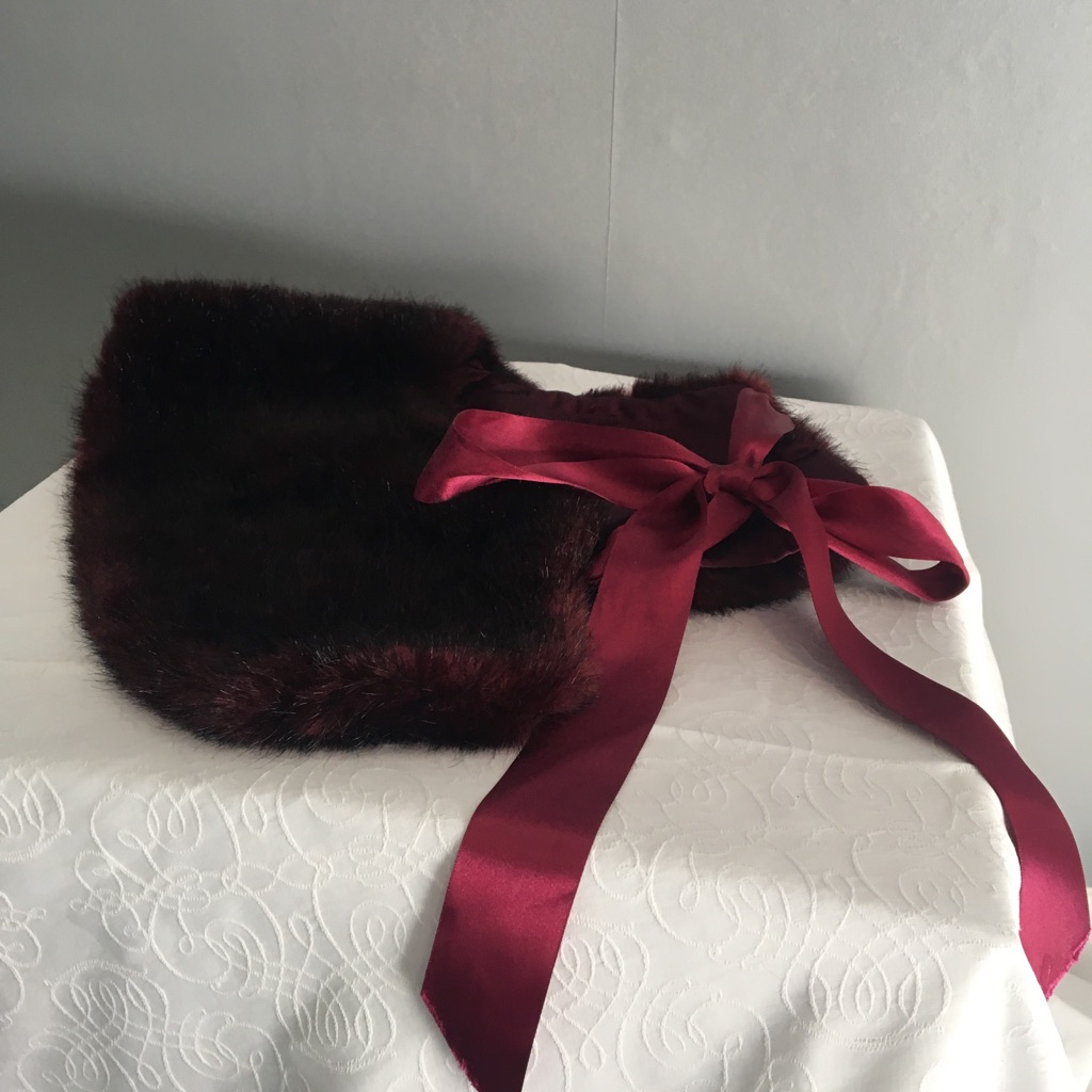 Red Faux Fur Collar
