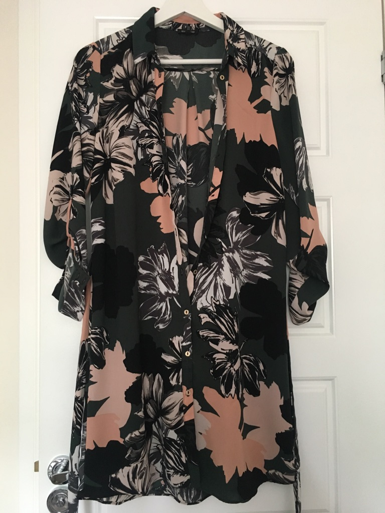 River Island T-Shirt Dress. Size 8 but would easily fit a size 10.