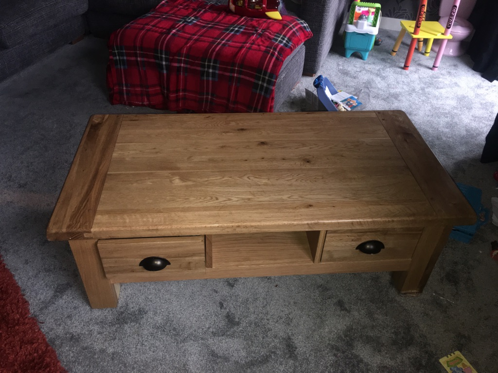 Large Solid Wood Coffee Table(Bought from DFS)