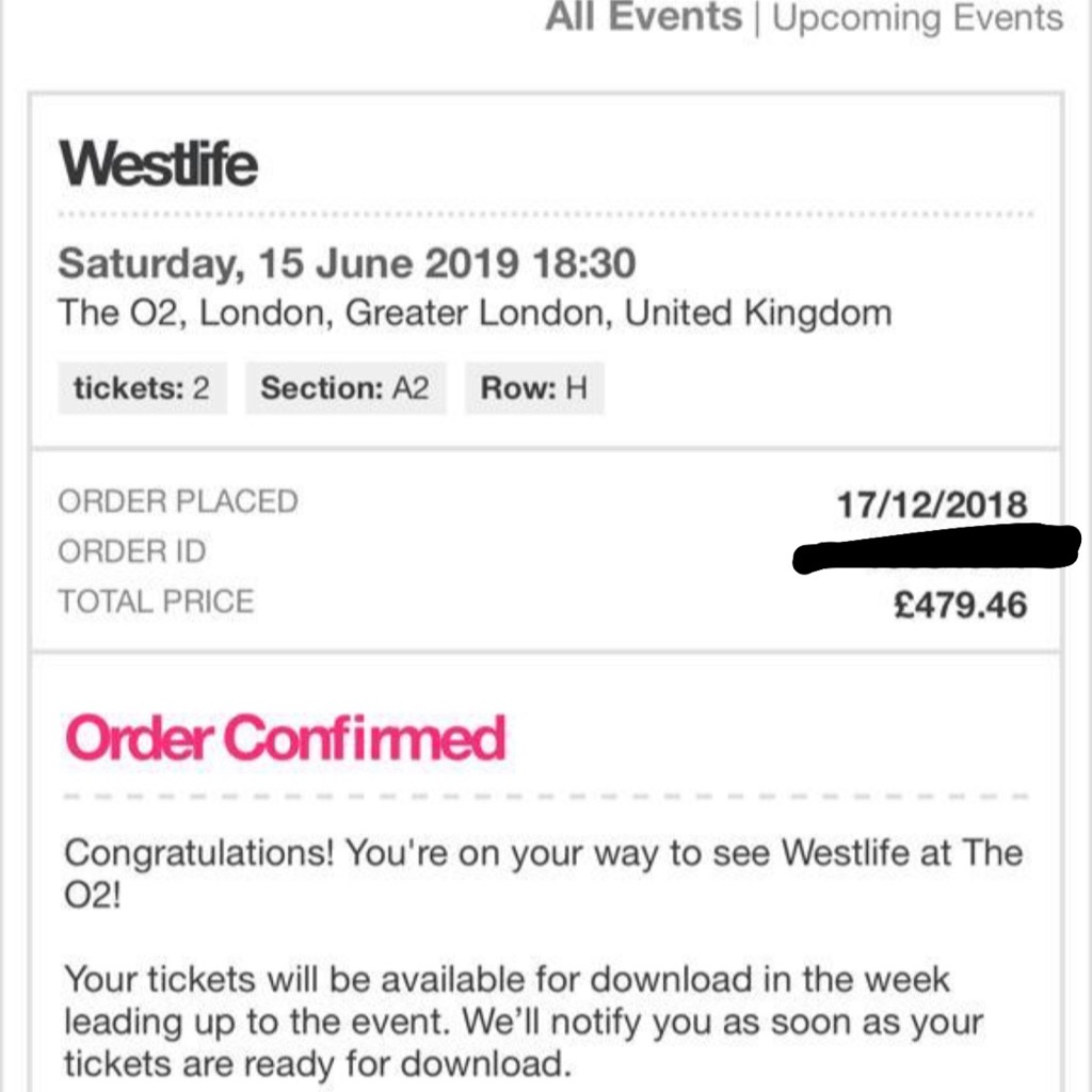 Westlife Tickets o2 Arena London