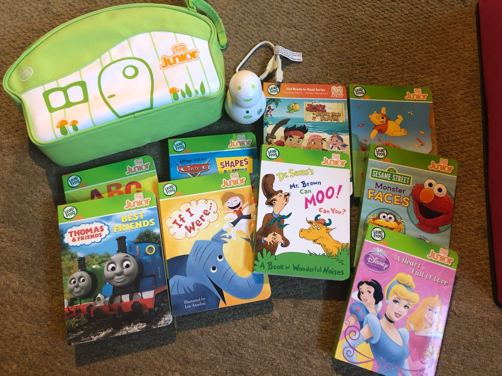 LeapFrog Tag Junior reading system & 9 books