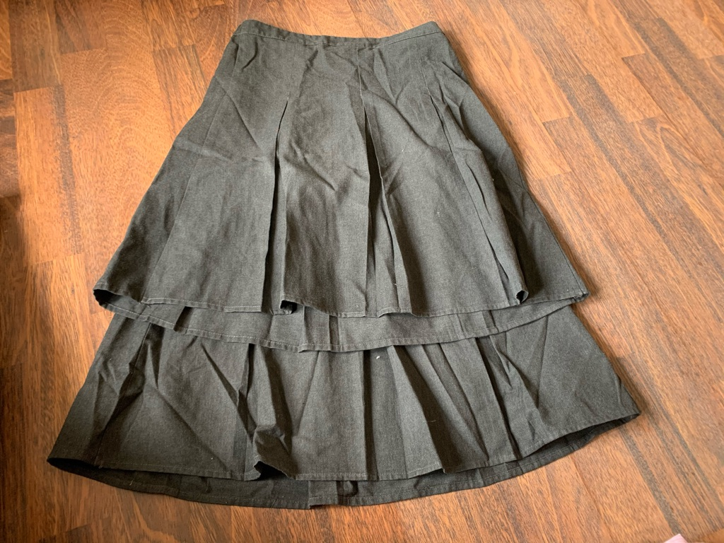 2 girls school skirts 11-12 years