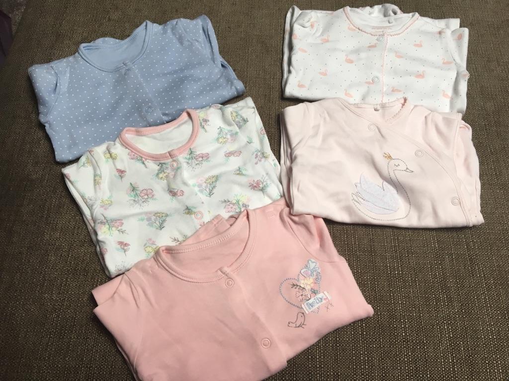 Baby girl first size & 0-3 month sleepwear/bodysuits