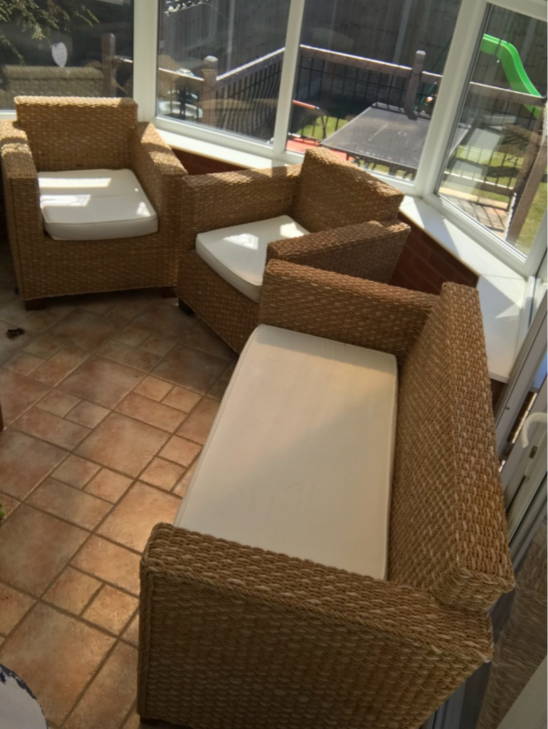 3 Piece Rattan Conservatory Furniture
