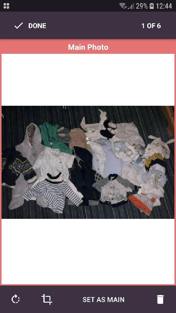 3 bags nb-6m clothes