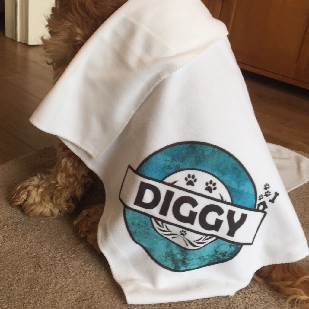 Personalised quick drying pet towel (8 colour ways available)