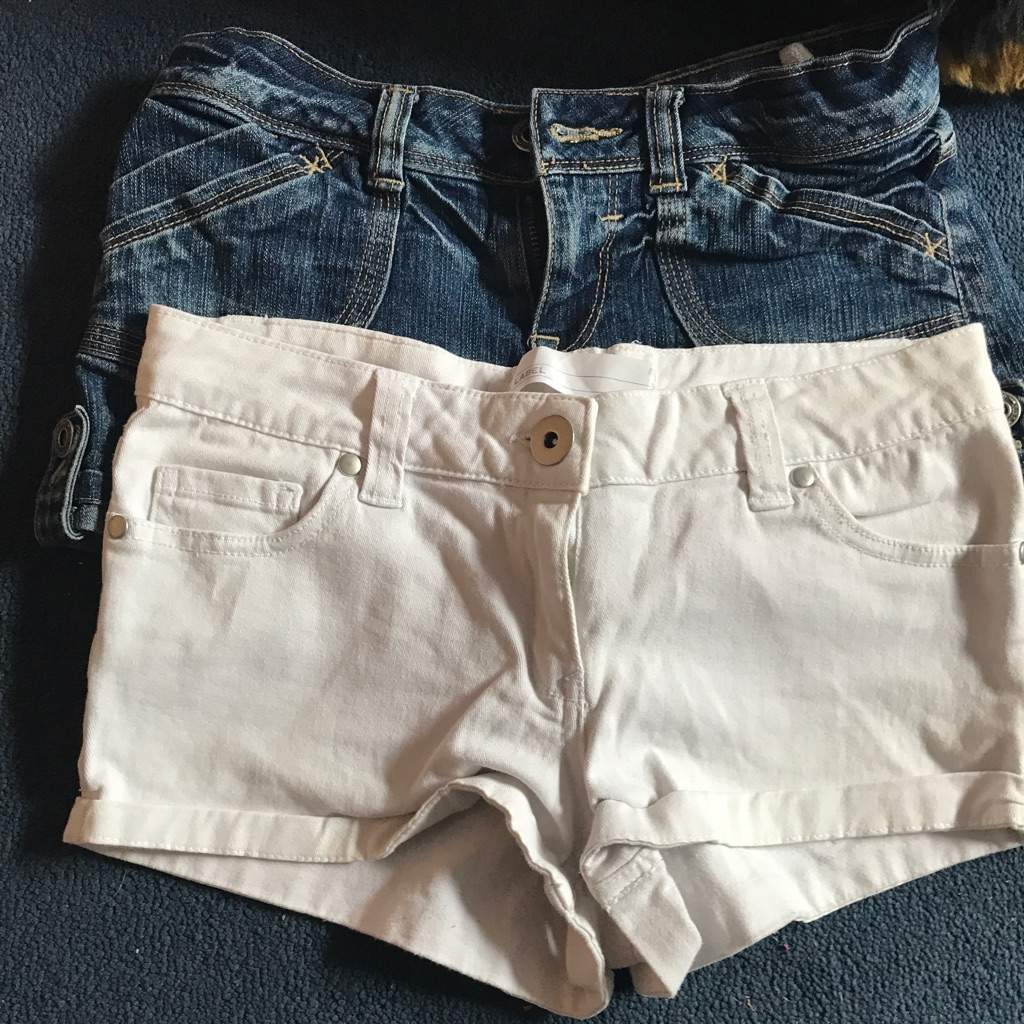Denim shorts both size S
