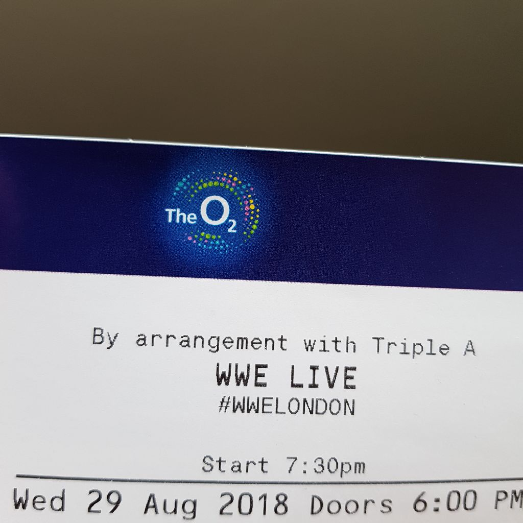 2 WWE tickets at O2