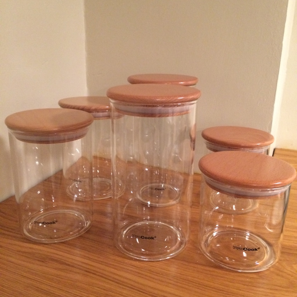 Storage Jars - 6 (3 different sizes)