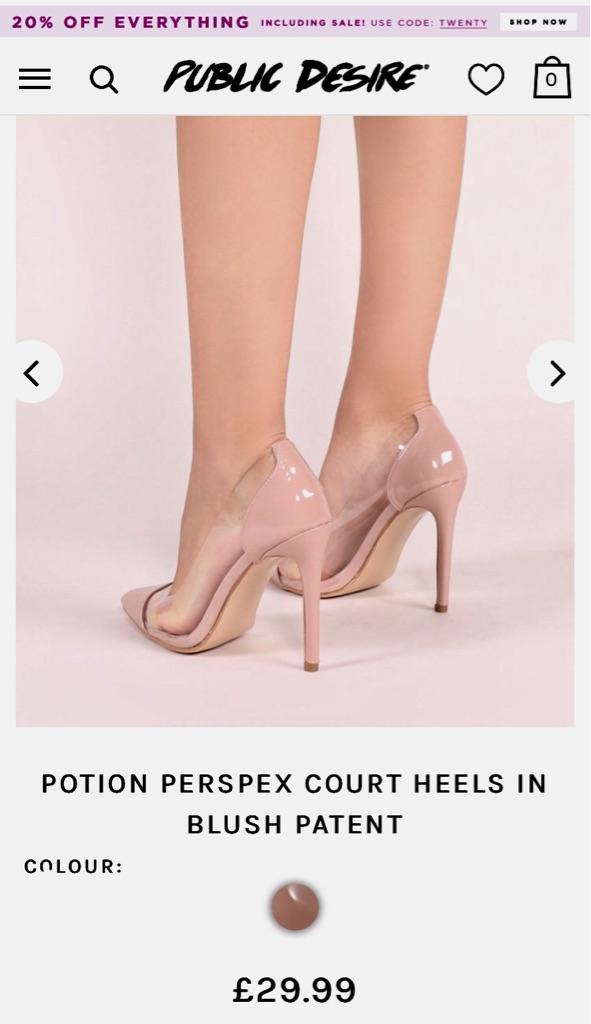 Public Desire perspex heels