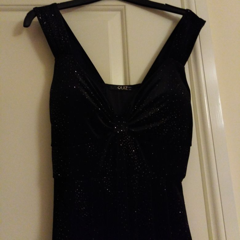 Black dress with silver sequence