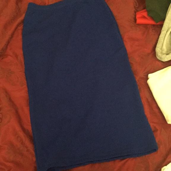 Blue middy skirt